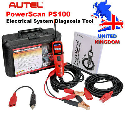 UK Ship Autel PowerScan PS100 Electrical System OBD2 Diagnosis Scan Tool