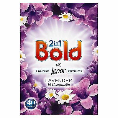 Bold 2-in-1 Lavender & Camomile Lenor Fresh Washing Powder Detergent - 40 Washes