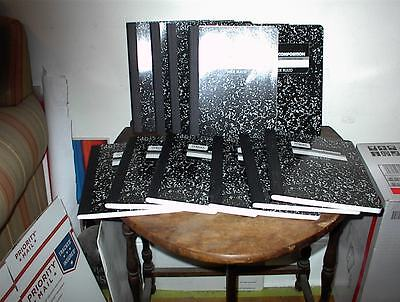 12 Pack Mead Black Marble Composition Book Wide Rule Hard Cover 100 Sheets