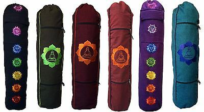 NEW Yoga Mat Bag * Embroidered Designs * Fully Lined * Zip Pockets * Hippy Boho