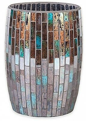 Parisian Wastebasket Finished With Handcrafted Multicolored Glass Mosaics