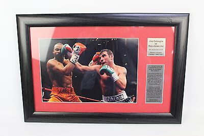 Joe Calzaghe vs Roy Jones Jnr Photo Presentation Frame Spirit of Sport Boxing