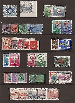 Pakistan selection of unmounted mint sets 1959-61. (not complete).