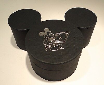 RARE Disney Mickey Mouse Ears Artist Fabric Covered Storage Box Watch Jewelry