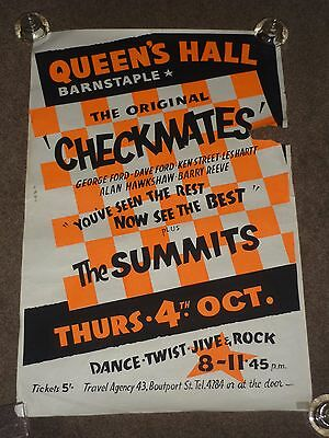Checkmates/The Summits 1962 Barnstaple Concert Poster