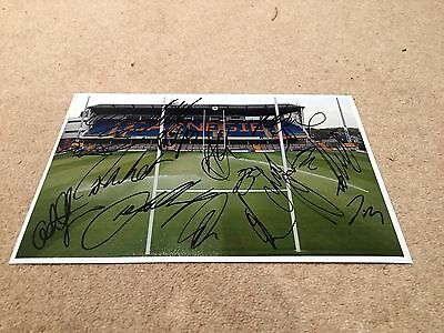LEEDS RHINOS SIGNED RUGBY LEAGUE 12x8 PHOTO 2017 SQUAD