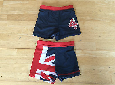 Baby Boy 2 Pack Swimming Trunks/Shorts Age 9-12 Months
