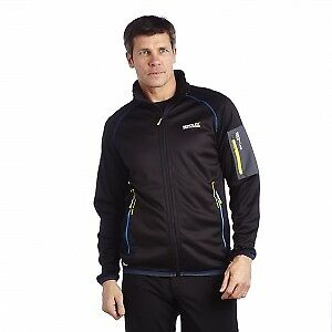 Regatta Degan Mens Insulated Warm Backed Stretch Softshell Jacket Black