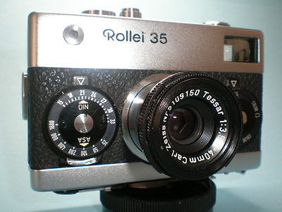 Vintage Rollei 35 w/ Excellent Carl Zeiss Tessar 3.5/40 Made in Germany