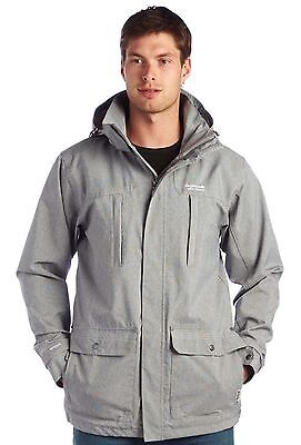 Regatta Tidewater Mens Isotex Waterproof Breathable Lined Hooded Jacket Grey S