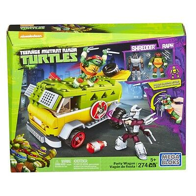 Mega Bloks Teenage Mutant Ninja Turtles Party Wagon Brand New In Box Dmx54