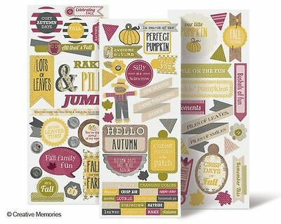 Creative Memories Days of Fall Title Stickers - scrapbook, card, invitations