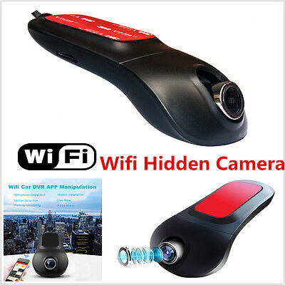 Wifi Hidden Car DVR Camera Full HD Video Recorder Dash Cam G-Sensor Night Vision