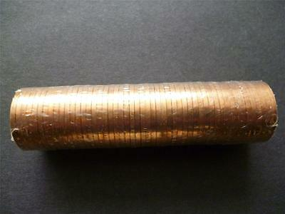 1971 Sealed Tube/roll Of Fifty Uncirculated One Pence Pieces. 50 X 1971 1P Coins