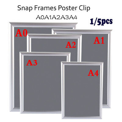 A0A1A2A3A4 Poster Clip Holders Snap Frames Displays Retail Wall Notice Boards UK