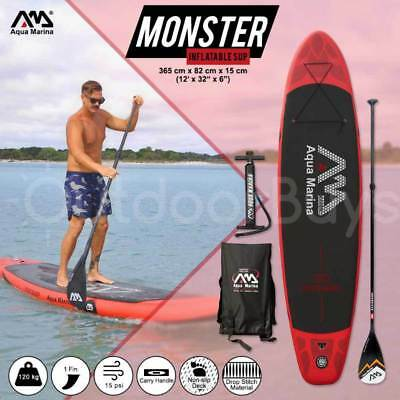 Inflatable Stand Up Paddle Board SUP 3.65m   Aqua Marina Monster Paddleboard