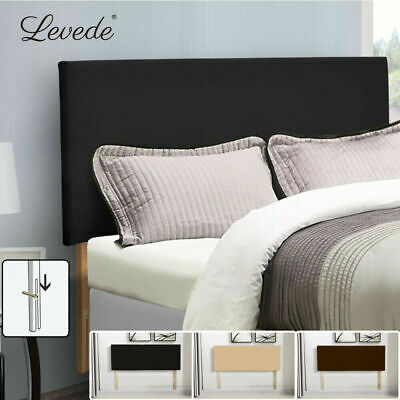 Single Queen King Double Size Bed Frame Headboard PU Leather Wooden Slat NEW
