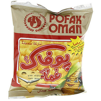 Pofak oman Corn & cheese flavor chips Family Snack pack 12 g
