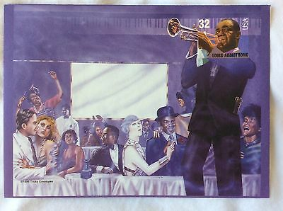 'Tricky Envelopes' celebrity USA stamps & picture envelopes (Louis Armstrong)