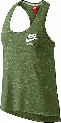 W Nsw Gym Vntg Tank Green Glow/black/(Black)