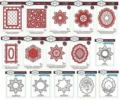 NEW Sue Wilson Craft Dies & Pre Cut Stamps Festive Frames & Backgrounds 2017