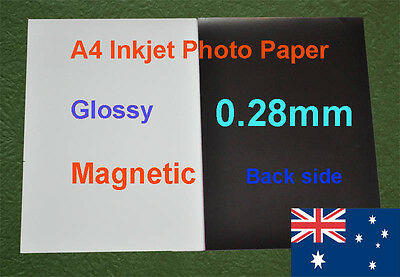 5 sheets A4  Inkjet Glossy Magnetic Photo Paper 0.28mm