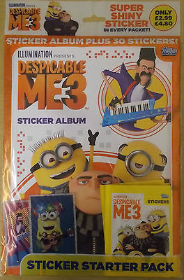 Despicable Me 3  ~ Topps Sticker Collection ~ Starter Pack Inc 30 Stickers