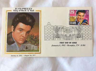 USA - FDC of ELVIS PRESLEY postage stamp issued 8 Jan 1993 in Memphis