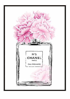 COCO Floral  Perfume Bottle  Print - Sizes 10 x 8, A4, A3