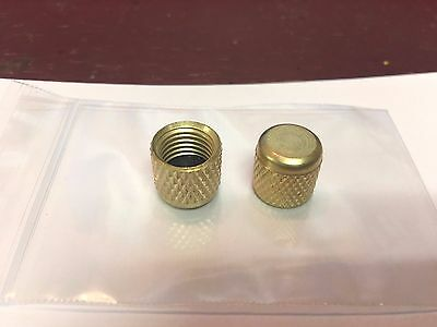 "1/4"" Female Flare A/C Brass Cap w/Gasket Set of 2"