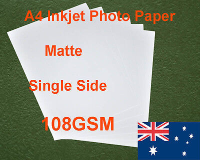 60 sheets A4 108GSM Inkjet & Laser Single Side Matte Photo Paper