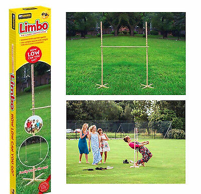 Garden Wooden Limbo Game Party Outdoor Indoor Kids Adults Fun Family Game 1.7M