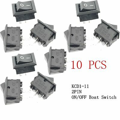 20PCS KCD1-11 Car Truck Boat Rocker Switch 2PIN ON/OFF G130 SPST Press Button