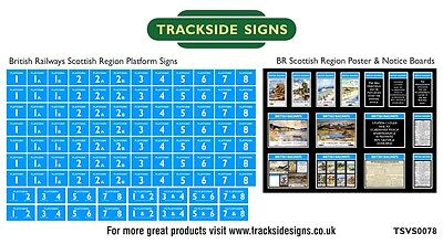 British Railways Scottish Region Platform Numbers & Posters N Gauge
