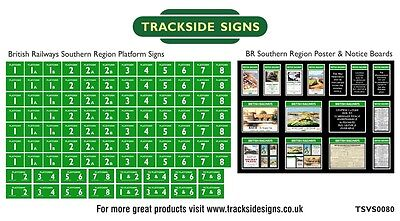 British Railways Southern Region Platform Numbers & Posters N Gauge