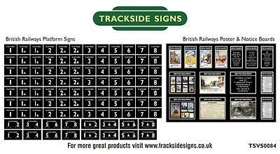 British Railways Model Railway Platform Numbers & Posters N Gauge