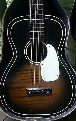 Vintage 1950s Silvertone Blues Acoustic Guitar with pickup