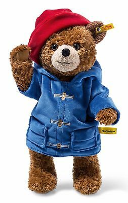 Steiff Paddington Bear Cuddly Soft Brown Plush 5 Way Jointed 38cm 690198 New