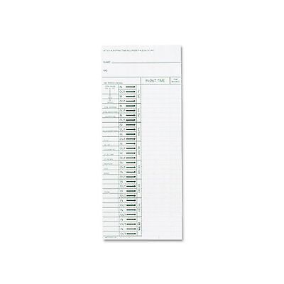Acroprint 09-6103-080 Time Card for ATT310 Time Recorder Pack of 200 Time Clock
