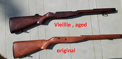 crosse vieillie pour m14 cm032. aged stock for airsoft m14