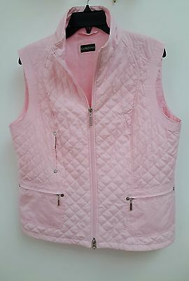Golfino Ladies Golf Waistcoat / Bodywarmer - UK Size 16 - Pale Pink - Brand New