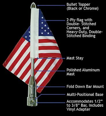 Rumbling Pride Fdbm Bar Flag Mount System For Harley Davidson Made In Usa