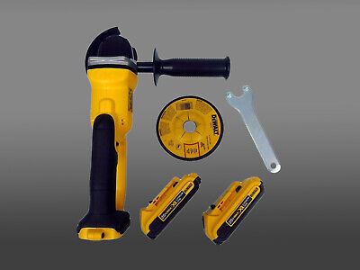 New Dewalt Grinder DCG412 20V Cordless Cut-Off Tool DCB203x2 2.0Ah Battery