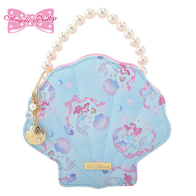 Disney Store Japan Princess Ariel Crystal Dream Mermaid Little Jewelry Bag Case