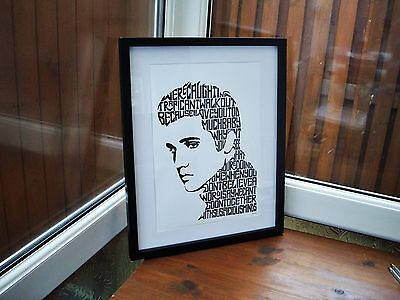 Elvis Presley/Suspicious Minds A3 size typography art print/poster