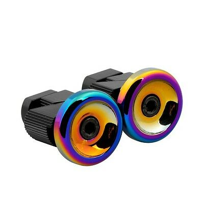 Snafu Alloy Mountain Bike BMX Stubby Bar Ends - Jet Fuel Oil Slick RRP£19.99