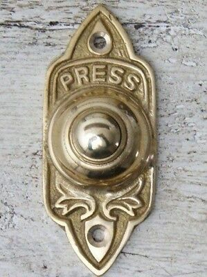 Solid Brass Bell Push Door Bell Push Wired (Round Circle Antique Vintage)