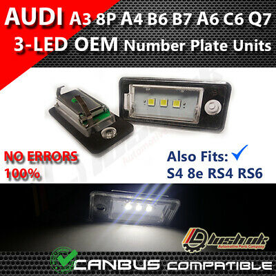 * Audi 3 Smd Oem A3 S3 8P Plate Sline Quattro Number Plate Led Unit Module White