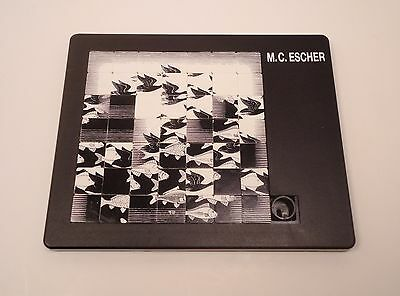 M.C. Escher Art Slide Tile Puzzle Sky And Water Black and White 1990 Germany