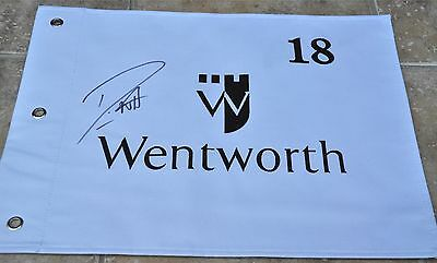 Danny Willett Signed Wentworth Golf Flag US Masters